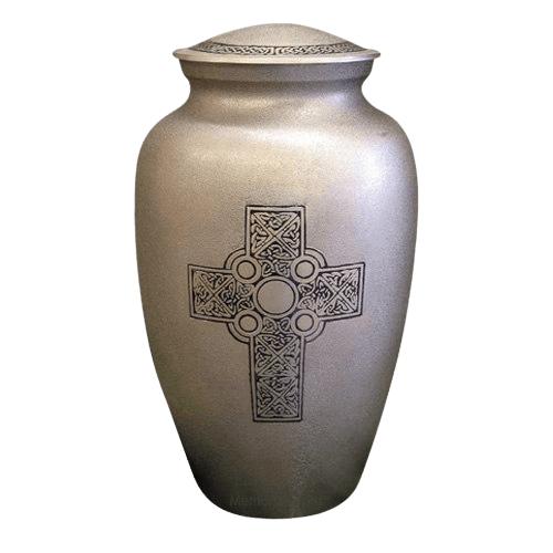 Irish Cross Brass Cremation Urn