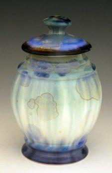 Crystal Ice Pet Porcelain Cremation Urn