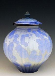 Light Blue Art Cremation Urn