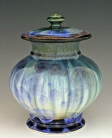 Green Eye Pet Porcelain Cremation Urn