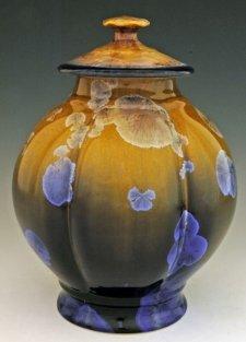 Gold Crisp Art Cremation Urn