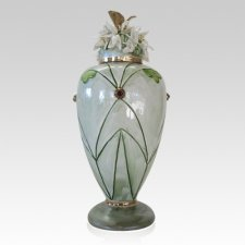 January Frost Cremation Urn