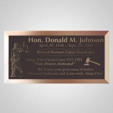 Judge Bronze Plaque