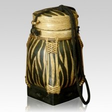 Zebra Keepsake Cremation Urn