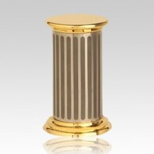 Titanium Golden Keepsake Urn
