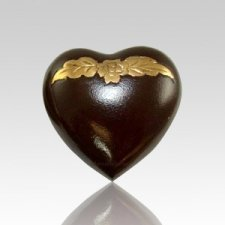 Avalon Mahogany Heart Pet Urn
