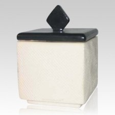 Forever Flame White Keepsake Cremation Urn