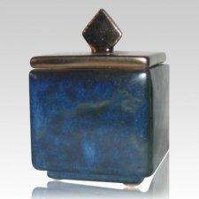 Forever Flame Blue Keepsake Cremation Urn