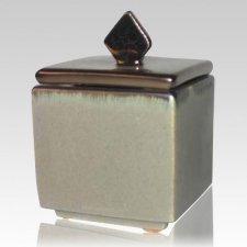 Forever Flame Silver Keepsake Cremation Urn