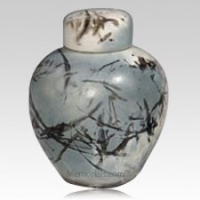 Arctic Ceramic Cremation Urn