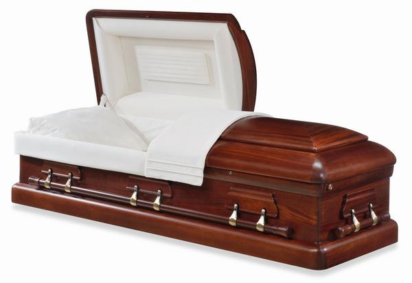 Kennedy Half Couch Wood Casket