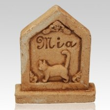Kitty Ceramic Grave Stone