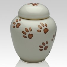 Kitty Paws Ceramic Cremation Urn