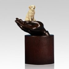 Labador Retriever Hands Dog Cremation Urn
