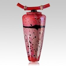 Ladybug Glass Cremation Urn