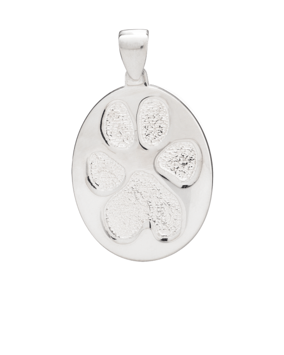Pet Large Paw Print White Gold Keepsakes