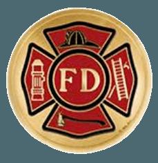 Fire Department Large Medallion Appliques