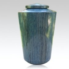 Cobalt Large Wood Urn