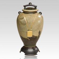 Lava Ceramic Cremation Urn