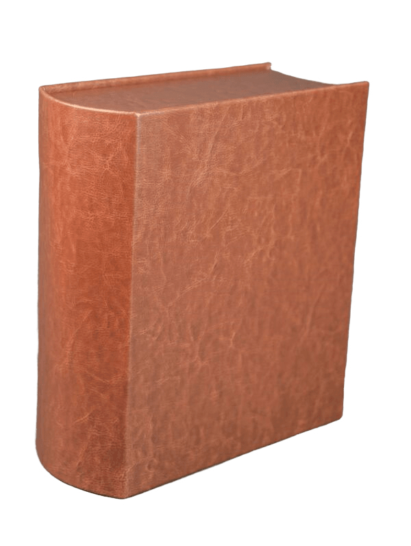Leather Book Scattering Urn
