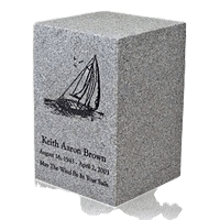 Light Grey Naples Cultured Cremation Urn