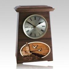 Lighthouse Astoria Clock Walnut Cremation Urn