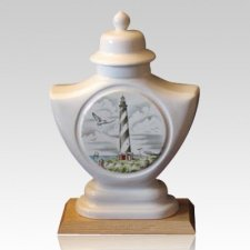 Lighthouse Ceramic Cremation Urn
