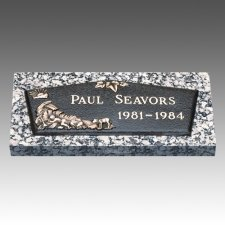 Little Boy Blue Children Bronze Grave Marker