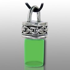 Best Friend Green Pet Necklace Urn