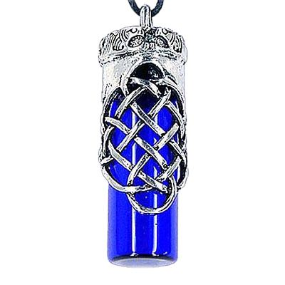 Love Blue Cremation Urn Necklace