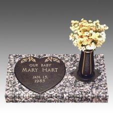 Loving Heart Children Bronze Grave Marker