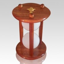 Hourglass Mahogany Pet Urn