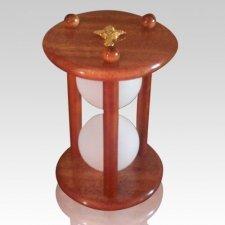 Hourglass Mahogany Keepsake Urn