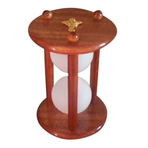 Hourglass Mahogany Pet Urn