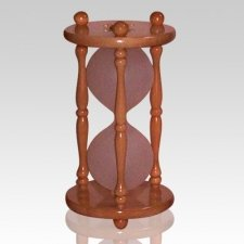 Hourglass Pillar Maple Keepsake Urn