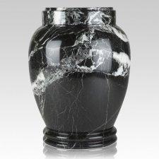 Black Zebra Marble Cremation Urn