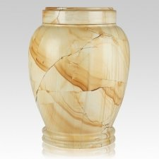 Teakwood Marble Cremation Urn