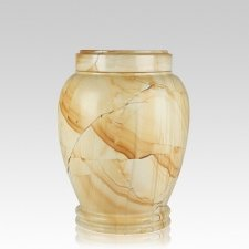 Teakwood Marble Medium Cremation Urn