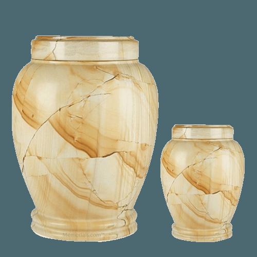 Teakwood Marble Cremation Urns