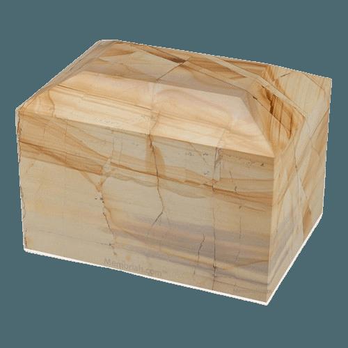 Teakwood Square Marble Cremation Urns