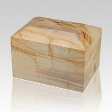 Teakwood Square Small Marble Cremation Urn
