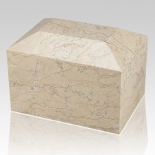 Botticino Square Large Marble Cremation Urn