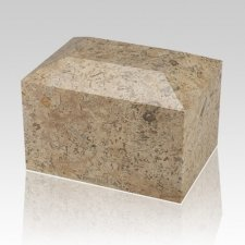 Fossil Square Small Cremation Urn