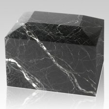 Black Zebra Square Marble Cremation Urns