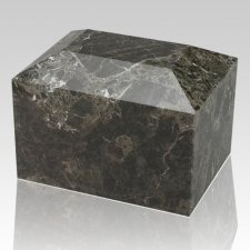 Green Square Marble Cremation Urn