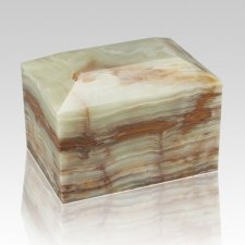 Ocean Square Small Onyx Cremation Urn