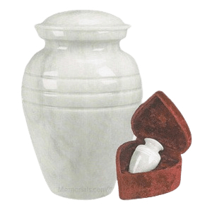 White Classic Marble Cremation Urns
