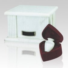 White Greek Marble Cremation Urns