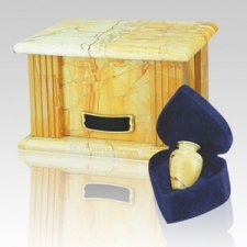 Teakwood Greek Marble Cremation Urns