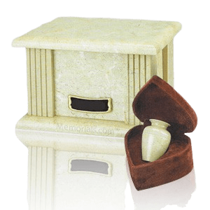 Cream Greek Marble Cremation Urns